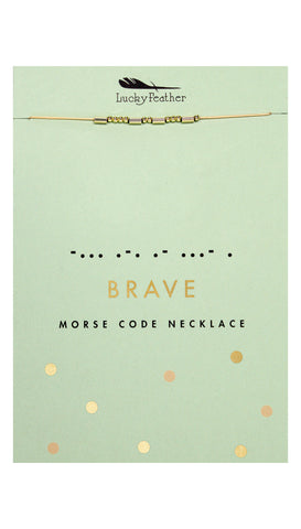 Morse Code HAPPY Necklace | Lucky Feather