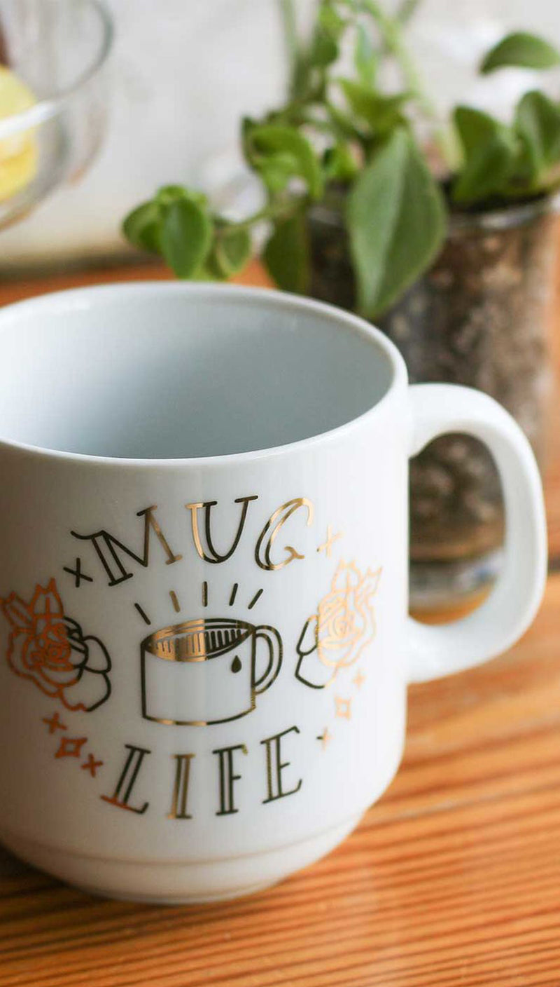 Mug Life Stackable Porcelain Mug