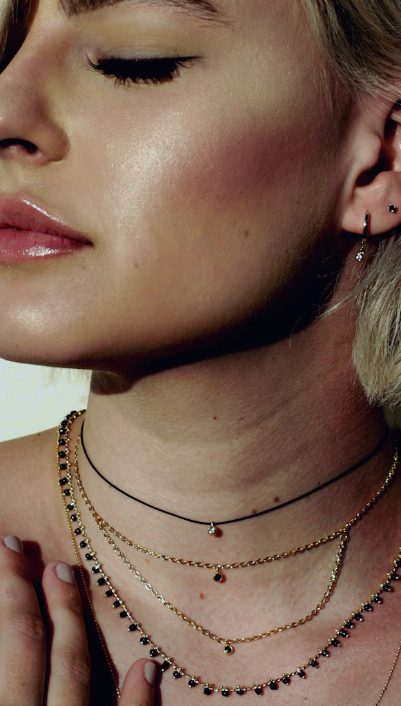Five and Two EVE Petite stone Choker Necklace
