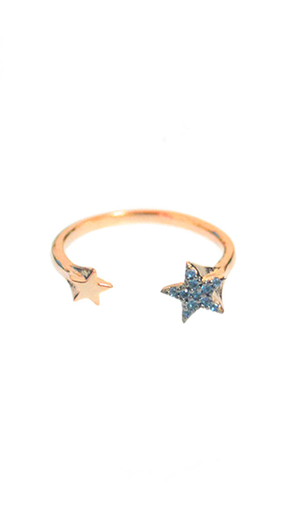 Tai Double Star Rose Gold Ring