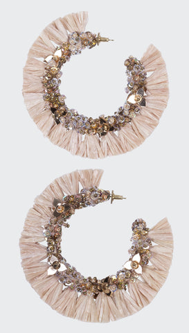 Pink Cherry Medallion Earrings | Olivia Dar