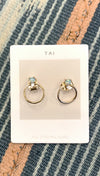 Silver Cross Hoop Earrings by Luv AJ