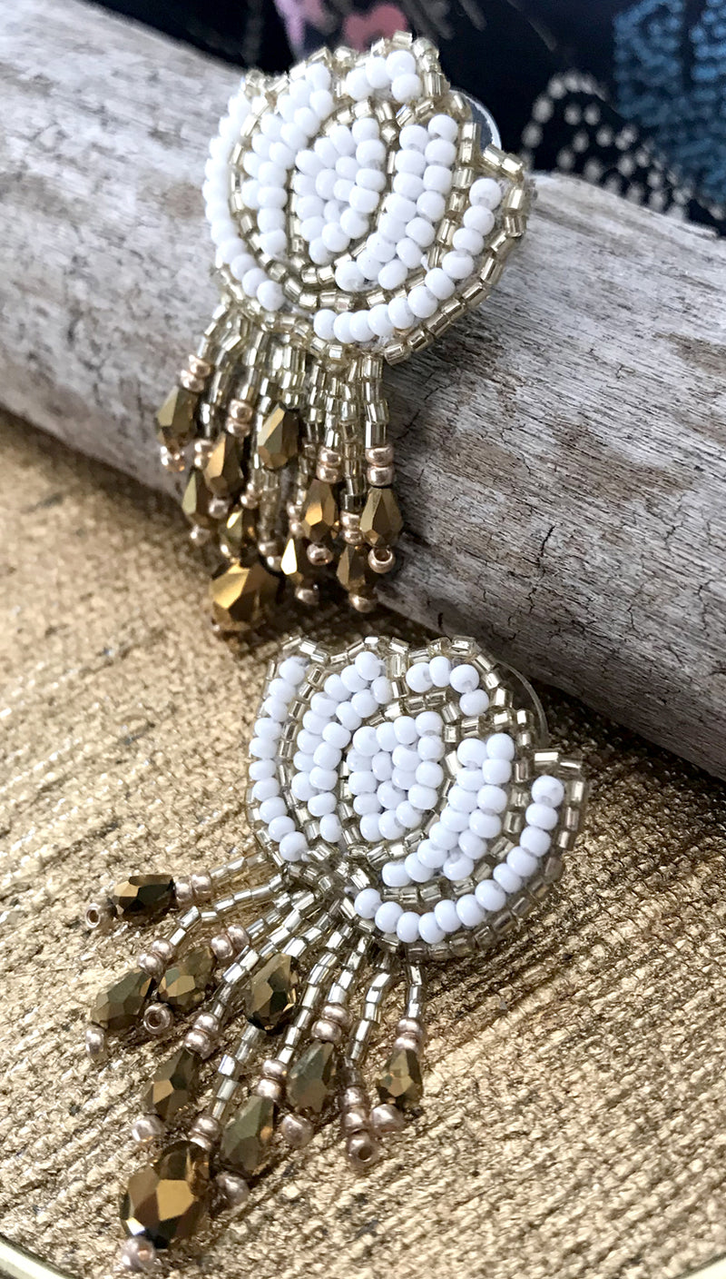 White Lotus Earrings | Olivia Dar