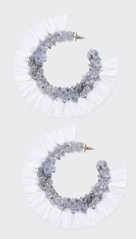 Aranci Shell Earrings - Beach Neutrals | Olivia Dar