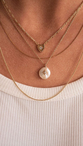 Elizabeth Stone Moon Gazer Y necklace - Moonstone