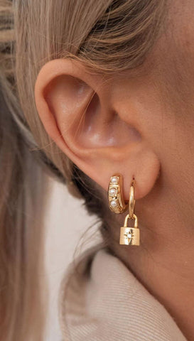 Harper Hoop Earrings | five and two jewelry