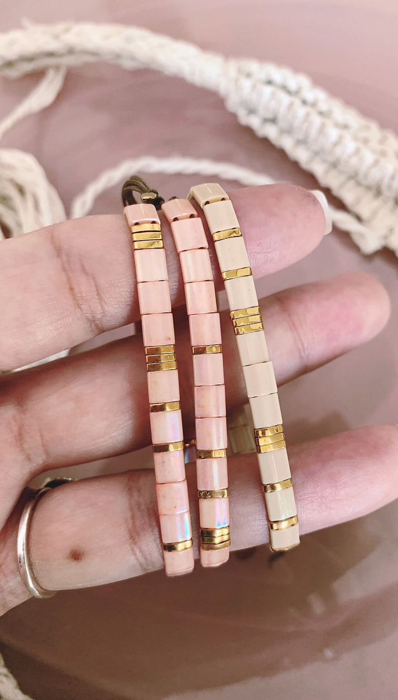 Sun kissed by By Johanne | Stacking Shell Bracelets