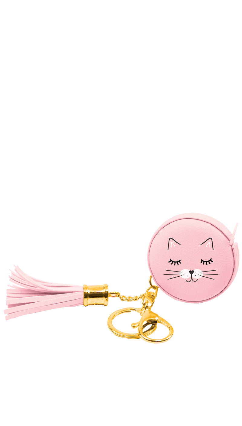 Travel Size Cat Measuring Tape Key Chain