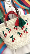 Flamingo Tassel Straw Beach Tote Bag