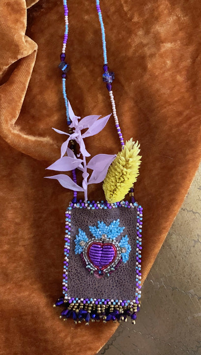 Mexican Heart Talisman Necklace | Olivia Dar