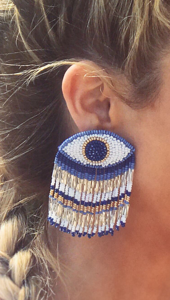 evil eye fringe olivia dar earrings cameo nouveau