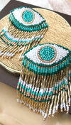 Beaded Hoop Earrings Beach | Olivia Dar