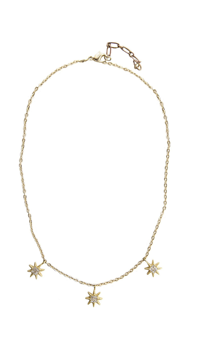 Five and Two Lou Triple Star Necklace