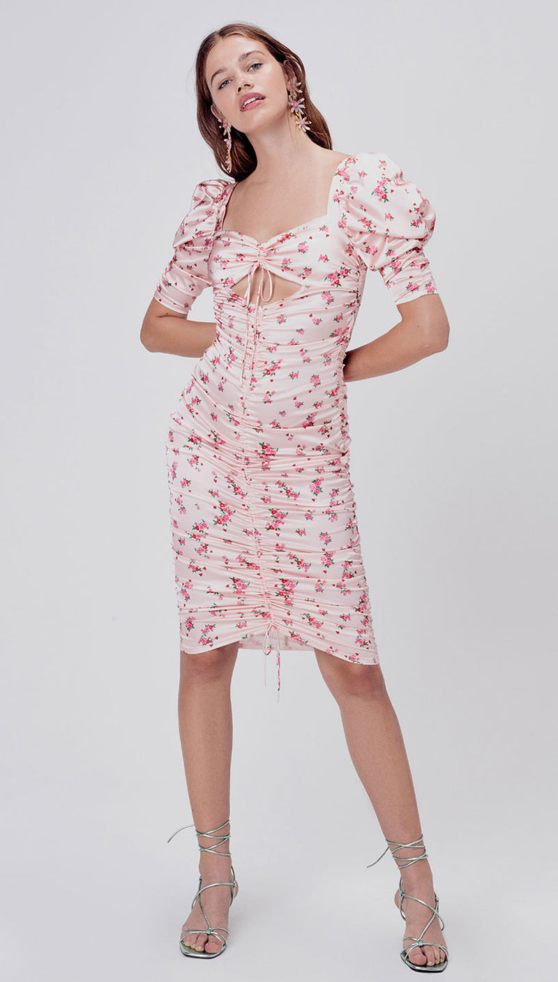 For Love and Lemons ASTER FLORAL MIDI DRESS