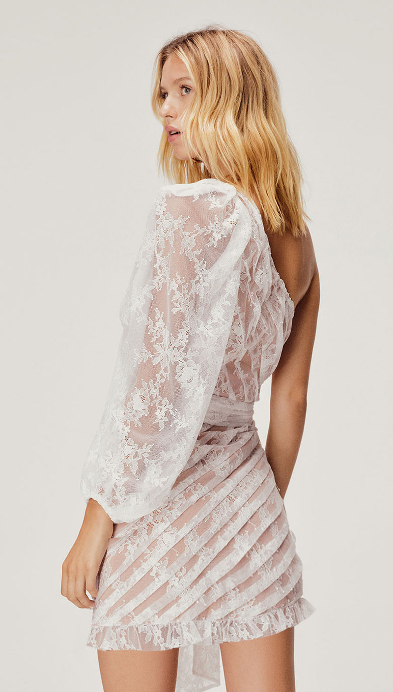 For Love and Lemons Dynasty One Shoulder Dress