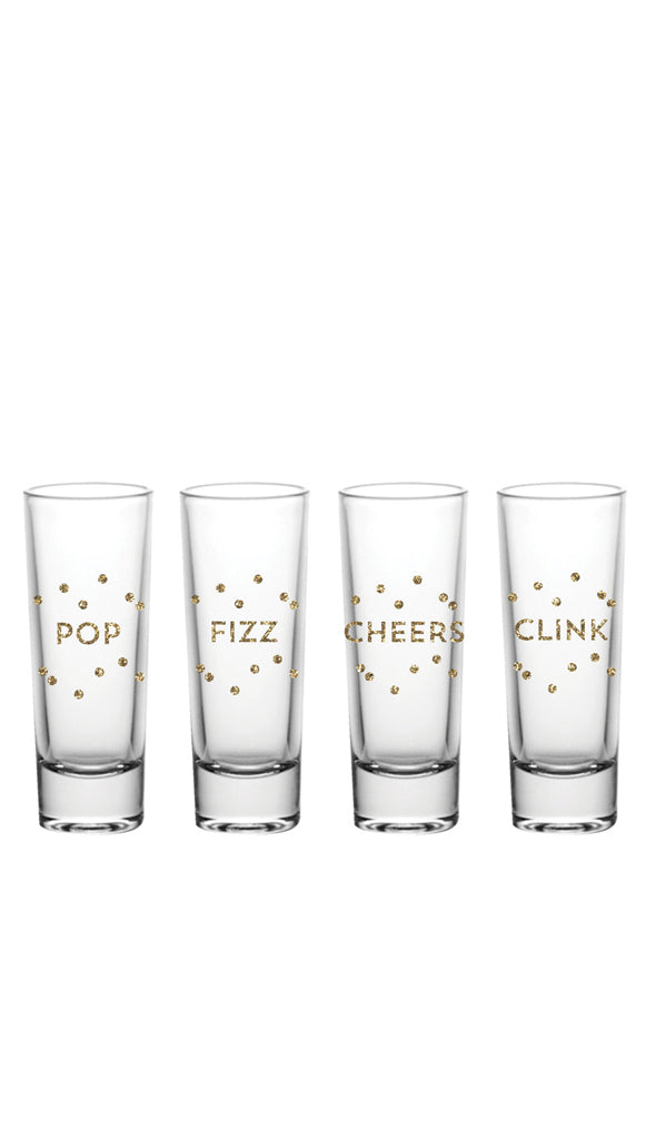 glitter shot glasses set