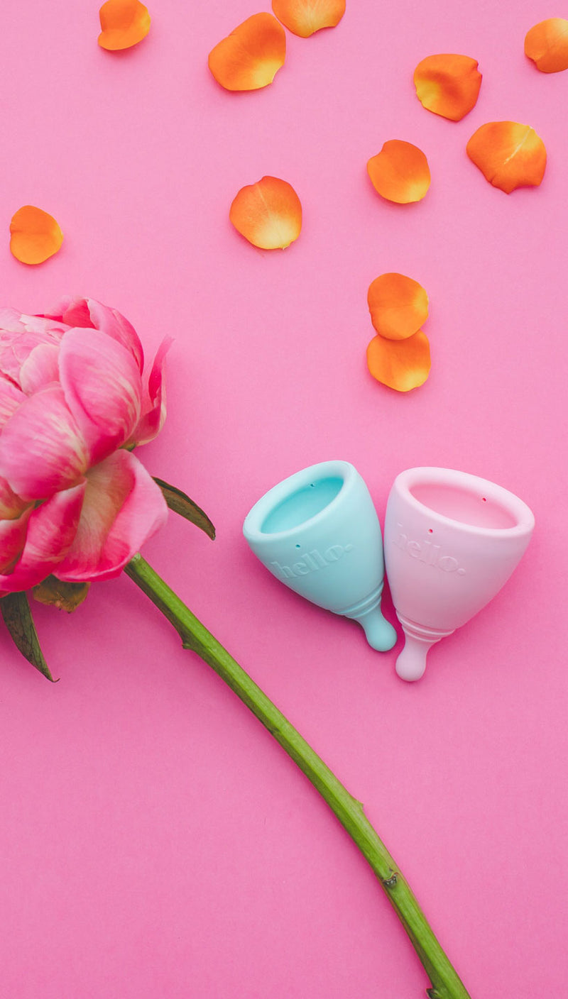 Hello. Menstrual Cup Small + Large Mix Pack