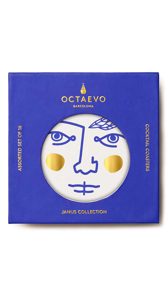 Janus Paper Drink Coasters by Octaevo