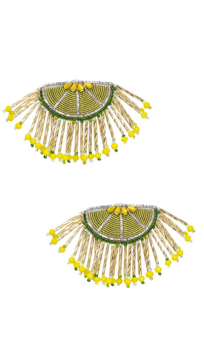 SASSARI Lime Citrus Earrings | Olivia Dar