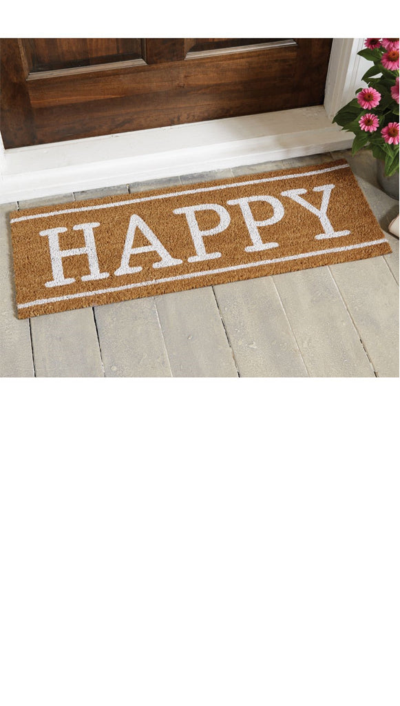 'Happy' Welcome Home Door Mat