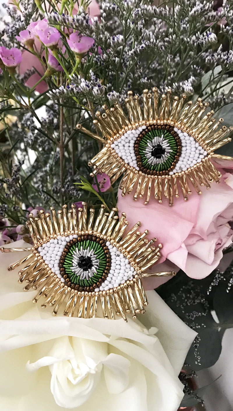 Olivia Dar Evil Eye Beaded Earrings