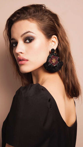 Marguerite Earrings by Olivia Dar - Copper