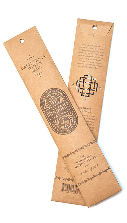Artisan Palo Santo and California White Sage Incense Sticks - 11 in