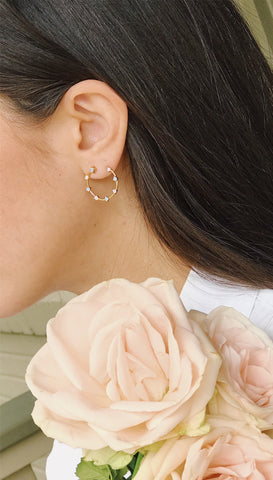 Frangipani Earrings | Olivia Dar