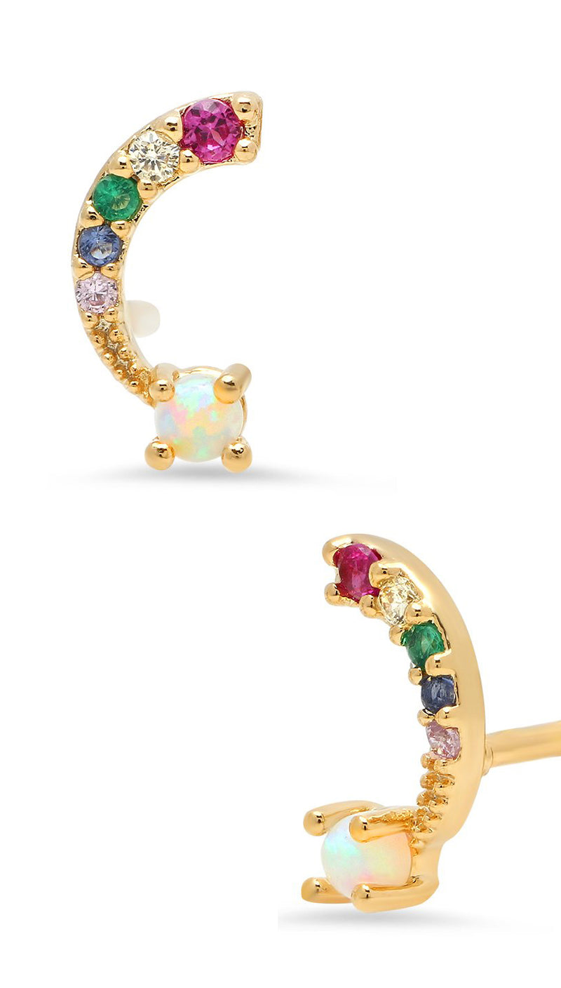 Over the 🌈 RAINBOW Stud Earrings | Tai Jewelry