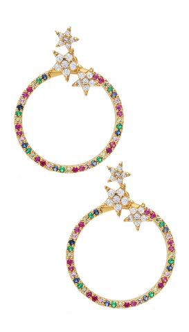 Theia Jewelry Haley Oval Hoop Earrings