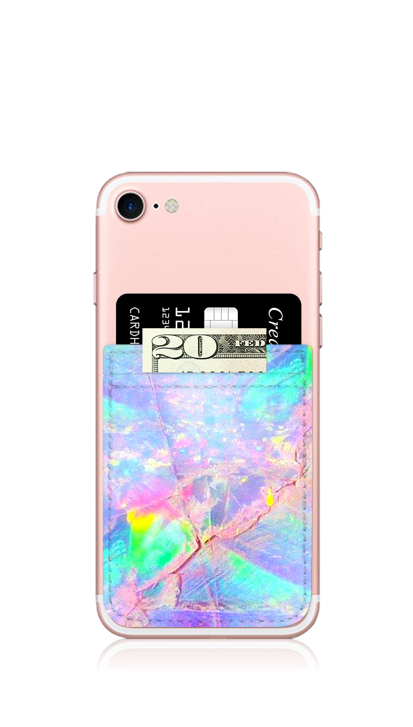 Unicorn Opal Self Stick Phone Pocket