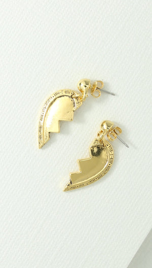 Vanessa Mooney Best Friend Broken Heart Earring Set
