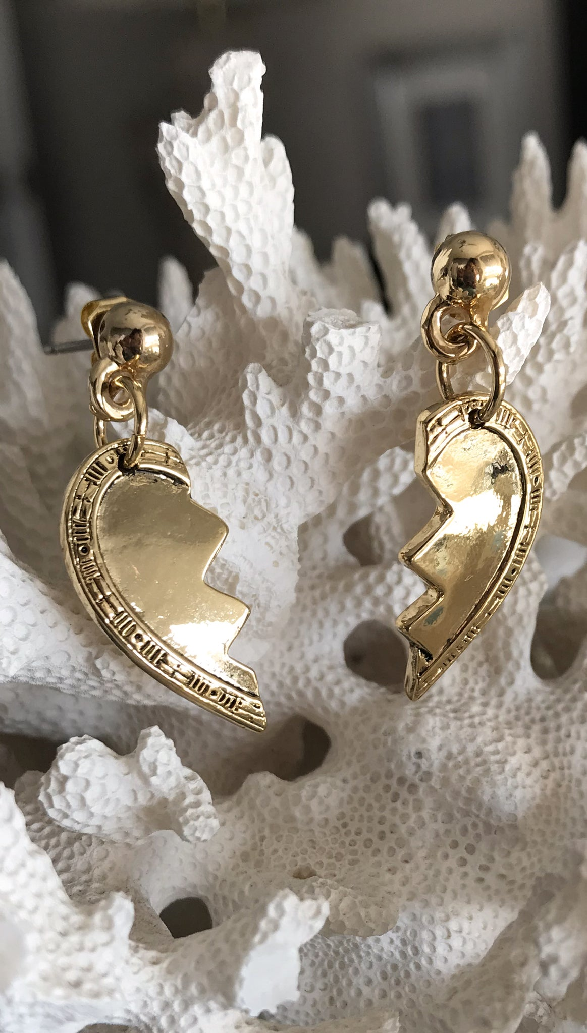 Best Friend Broken Heart Earrings by Vanessa Mooney