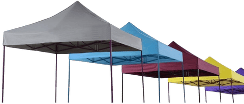 Large quantity of gazebos.