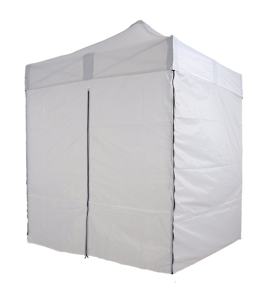2x2m-White-Bramble T2P - Pop-Up Gazebo with Sides [2x2/3x3m]-EasyGazebos® Original