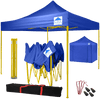 Pop-Up Gazebo with Sides - 3x3m / 10 x 10 - Blue with Yellow Frame