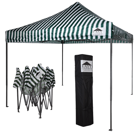 10x10' Market Stall - Striped Pop-Up Gazebo