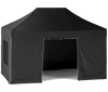 3x4.5m-Black-Nevis HEX40 Pro - Heavy-Duty Gazebo with Sides [3x3/3x4.5/3x6m]-EasyGazebos® Original
