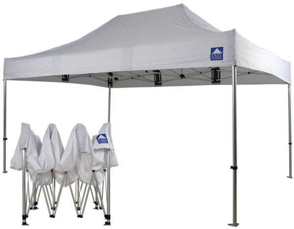 3x4.5m-White-Nevis HEX40 Pro - Heavy-Duty Gazebo with Sides [3x3/3x4.5/3x6m]-EasyGazebos® Original