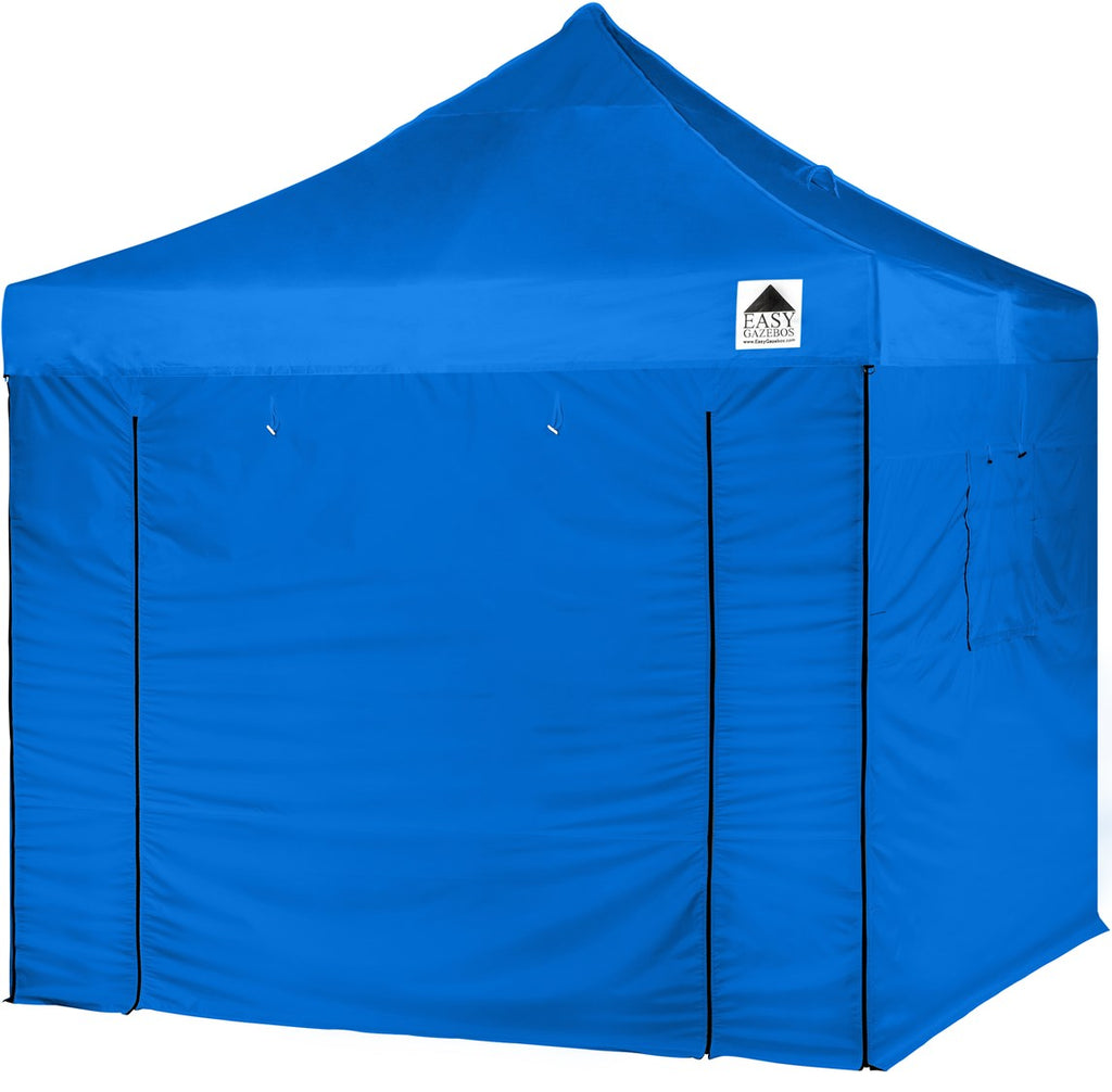 3x3m Light Blue Pop Up Gazebo with Sides