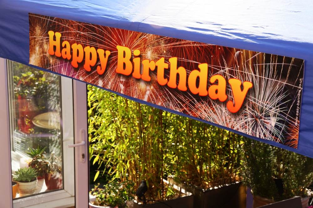 Happy Birthday Sign For A Gazebo