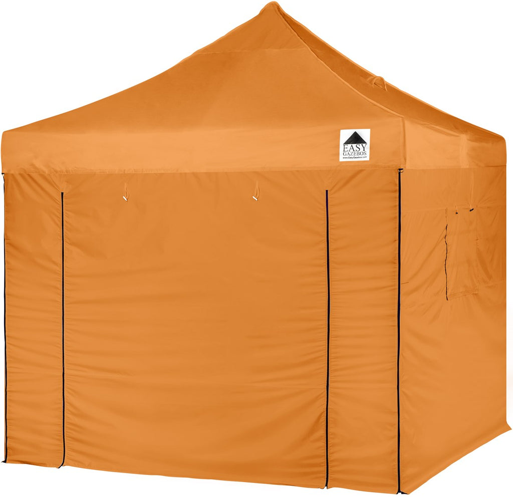 Orange Pop-Up Gazebo with Sides