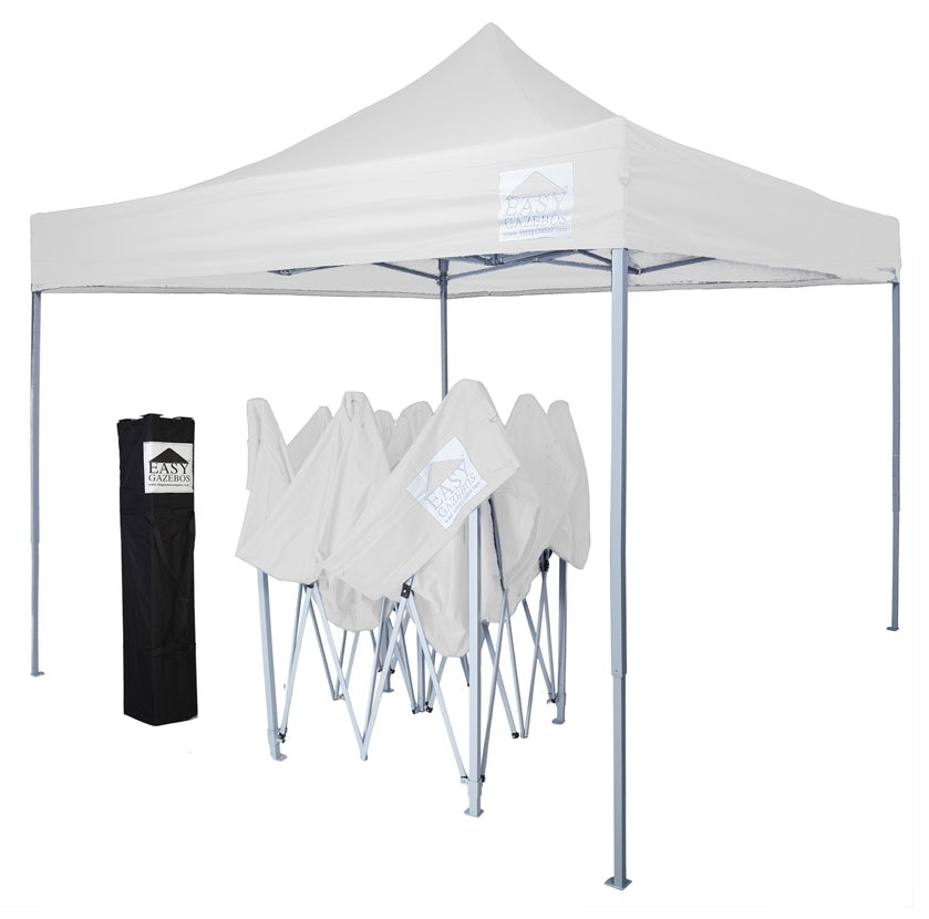 (3x3m) White Folding Easy Pop-Up Gazebo [T2]