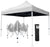 Heavy Duty Pop-Up Gazebo with Sides (White)