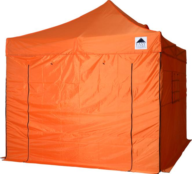 Orange Gazebo with Sides