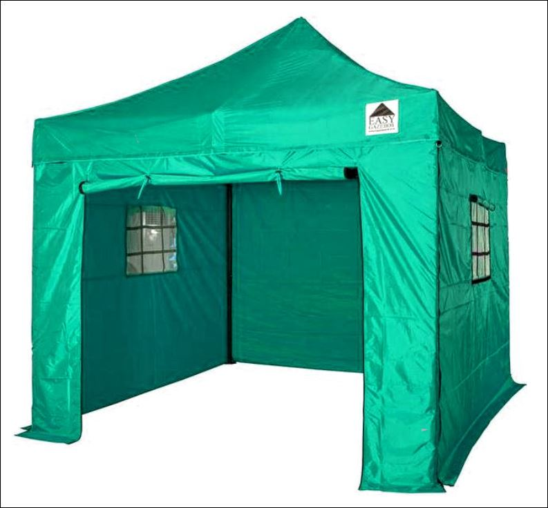 Green TM40 Gazebo with sides