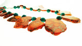Star Jewels- Modern Designer Semi Precious Stone & Fashion Jewelry Stunning Imperial Jasper Natural Shape With Turquoise Imperial Jasper Beads (19 Inches)