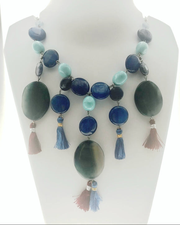 Star Jewels- Modern Designer Semi Precious Stone & Fashion Jewelry Exquisite - A Unique Combination of Blue Gemstones in a Chic, Flirty Design (24 Inches)
