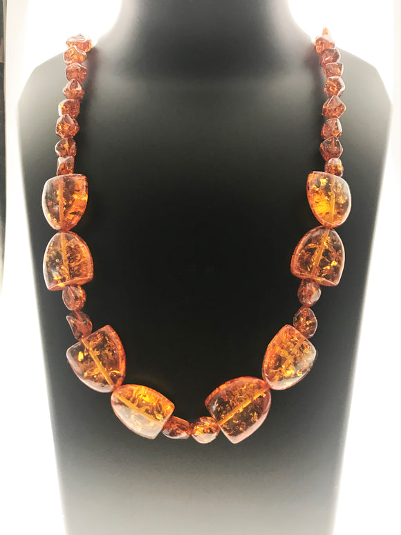 Star Jewels- Modern Designer Semi Precious Stone & Fashion Jewelry Charming Necklace Made in Amber - A Stunning Delight (26 Inches)