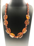 Charming Necklace Made in Amber - A Stunning Delight (26 Inches) - Starjewels